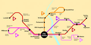Make A Route Map city reds southampton first uk bus