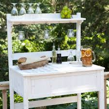 Outdoor Potters Bench White Potting Bench Home Gardening Station With Storage