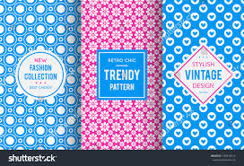 girly images for background chic seamless pattern background vector illustration stock vector