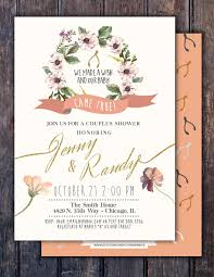 boho wishbone twins couples shower baby shower invitation