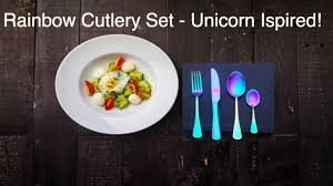 rainbow cutlery set sale youtube