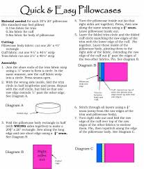 essential steps for sewing seam pillowcases