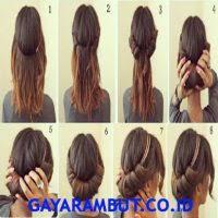 tutorial sirkam rambut panjang 50 cara cepol rambut pendek dan simple gayarambut co id