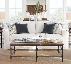 White Slipcovered Sofa by Pb Comfort Roll Arm Slipcovered Sofa Warm White 212 Cm