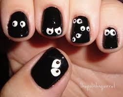 custom halloween nail art the polish squirrel