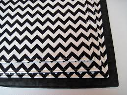 black and white chevron placemats set of 4 or 6 reversible zig