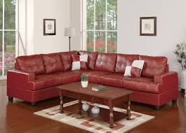 f7642 burgundy sectional sofa by poundex