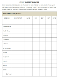 Event Budget Template Excel Event Budget Template 3 Free Word Excel Pdf Documents