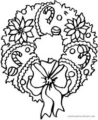 dibujos navideñas para colorear para colorear coronas navideñas