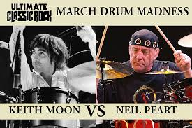 Neil Peart Meme - neil peart vs keith moon march drum madness