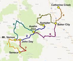 map of highway 395 oregon brnw bicycle rides northwest oregon bicycle ride