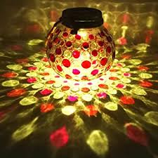 solar jar lids decorations lights outdoor
