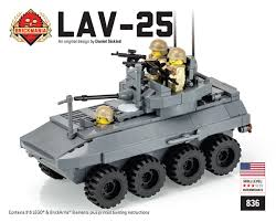 lego army vehicles brickmania lav 25