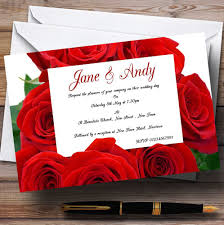 red rose love note personalised wedding invitations the card zoo