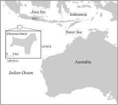 geographic location of christmas island indian ocean