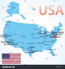 Washington Map With Cities by Map Of The Usa With States And Cities Usa Map With States Major