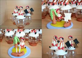 deco jungle bapteme boule à dragées pirate et déco pour le gâteau la porcelaine