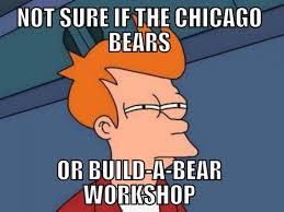 Build A Bear Meme - build a bear joke football lols pinterest jay cutler packers