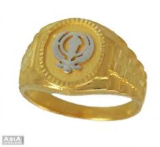 men gold ring design 22k gold khanda ring ajri54036 22k gold men s ring designed