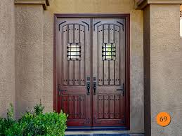 9 Foot Patio Door by Decor Craftsman 9 Lite Stained Mahogany Wood Home Depot Entry