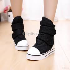 womens boots velcro running shoes motorcycle boots sneakers elevator high