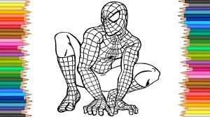 coloring page spider man l coloring markers videos for children