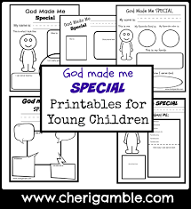 god made me special printables for young children u2013 cheri gamble