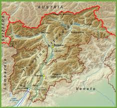 Physical Map Of Italy by Trentino Alto Adige Maps Italy Maps Of Trentino Alto Adige