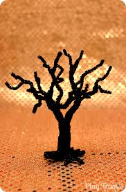 Halloween Decorations For Trees by Spooky Pipe Cleaner Trees Halloween Craft Tutorial Play Trains