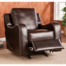 Leather Rocker Recliner Furniture Best Leather Dark Brown Rocker Recliners Decor For Your