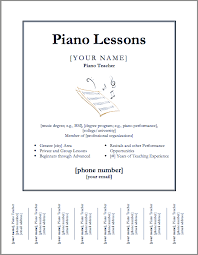 downloadable template for a poster for piano lessons except i can