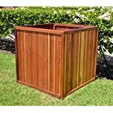 Redwood Planter Boxes by Amazon Com Hollis Wood Products 22 In Square Redwood Planter