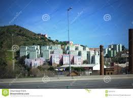 barcelona suburbia residential buildings stock photo image 52812313