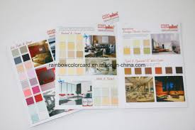 china wall paint color shade card brochure for building material