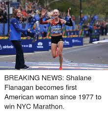 Running Marathon Meme - ed pres flanagan breaking news shalane flanagan becomes first