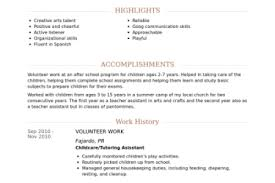 Volunteer Work Resume Example by Chef Resume Form Reentrycorps