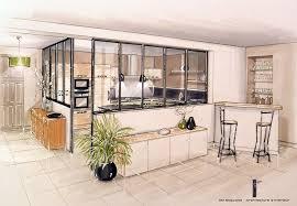 cuisine verriere interieure verriere entre cuisine et salle à manger idées décoration intérieure