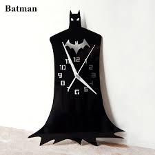 creative batman hero wall clock acrylic cartoon potrait designer