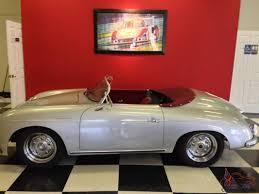 vintage porsche 356 vintage speedster 356 replica silver convertible 2 door
