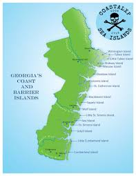 Map Georgia Usa by The Sea Islands Are A Chain Of Tidal And Barrier Islands On The