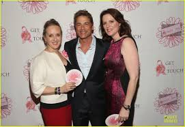 rob lowe u0026 halston sage show support for pretty in pink luncheon