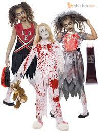 halloween zombie costume age 7 15 girls zombie costumes blood halloween fancy dress party