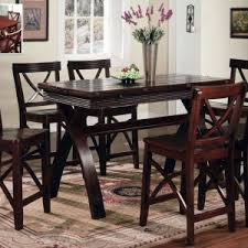 solid wood pub table elegant dining room design with dark cherry pub tables set cross