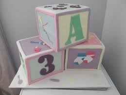 baby block cakes baby shower cake for my sister 3 6
