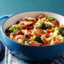 Pasta Recipes by Pasta U0026 Broccoli Sausage Simmer Recipe Taste Of Home