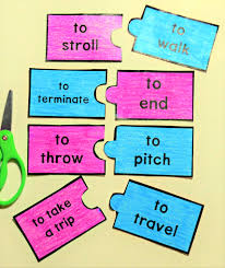 travel synonym images Free synonym puzzle pack 40 page pdf speech therapy finds jpg