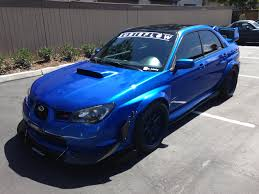 subaru impreza modified blue paint corrected blue subaru wrx sti by wicked auto detailing in