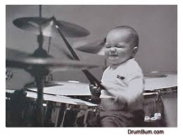 baby on drumset the greeting card for that special