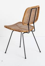 enameled metal and rattan chair by dirk van sliedrecht for rohe