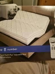 Sleep Number King Size Bed Frame Sleep Number Flexfit Plus Adjustable Base Split King Like New